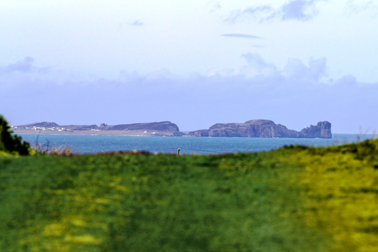 View from the land to Tory Island